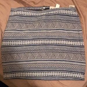 H&M Striped Mini Skirt